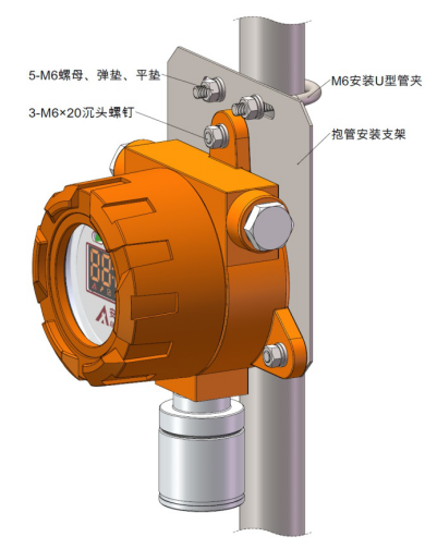 可燃气体探测器安装