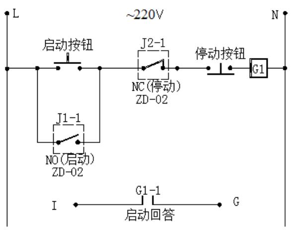 ZD-02直控盘终端器控制交流型设备示意图