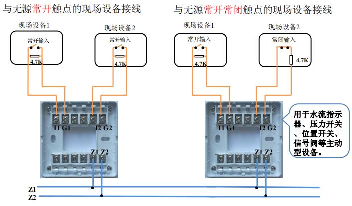 GST-LD-8360输入模块接线示意图