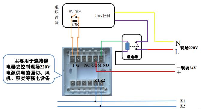 GST-LD-8361输入输出模块接线示意图