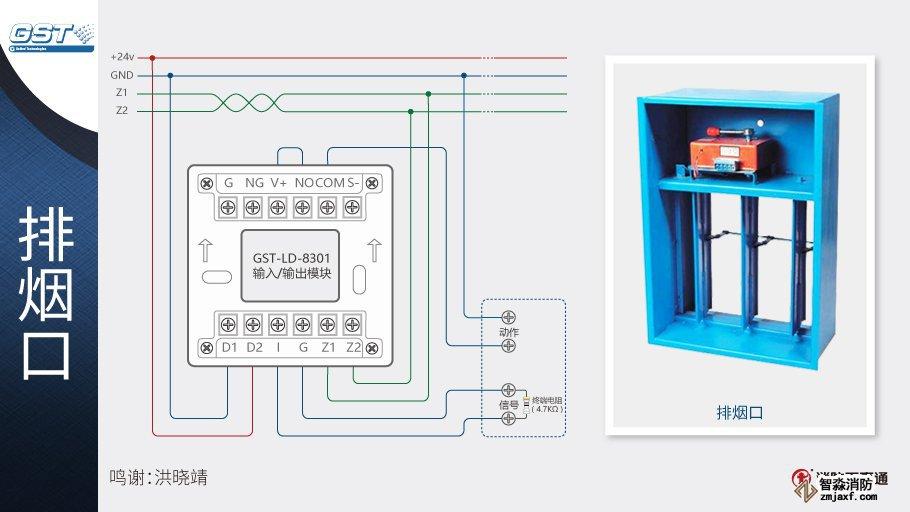 GST-LD-8301输入/输出模块接排烟口