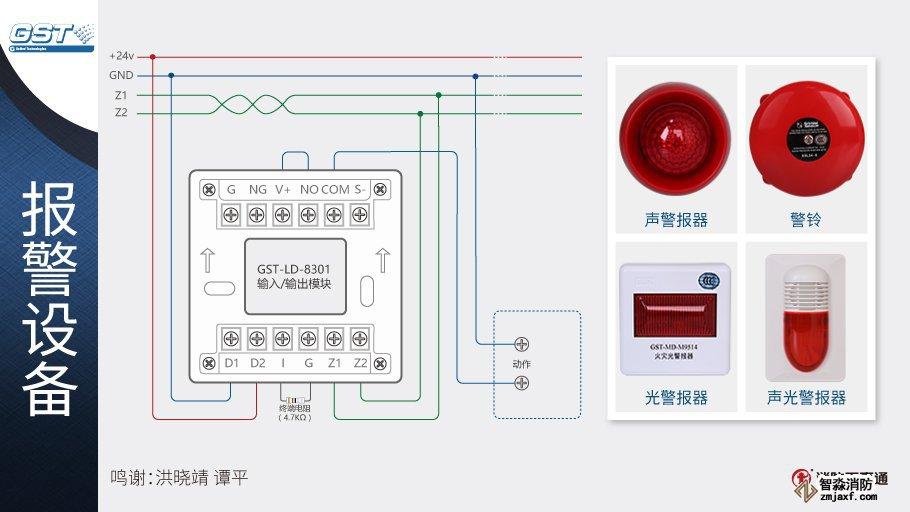 GST-LD-8301输入/输出模块接警铃