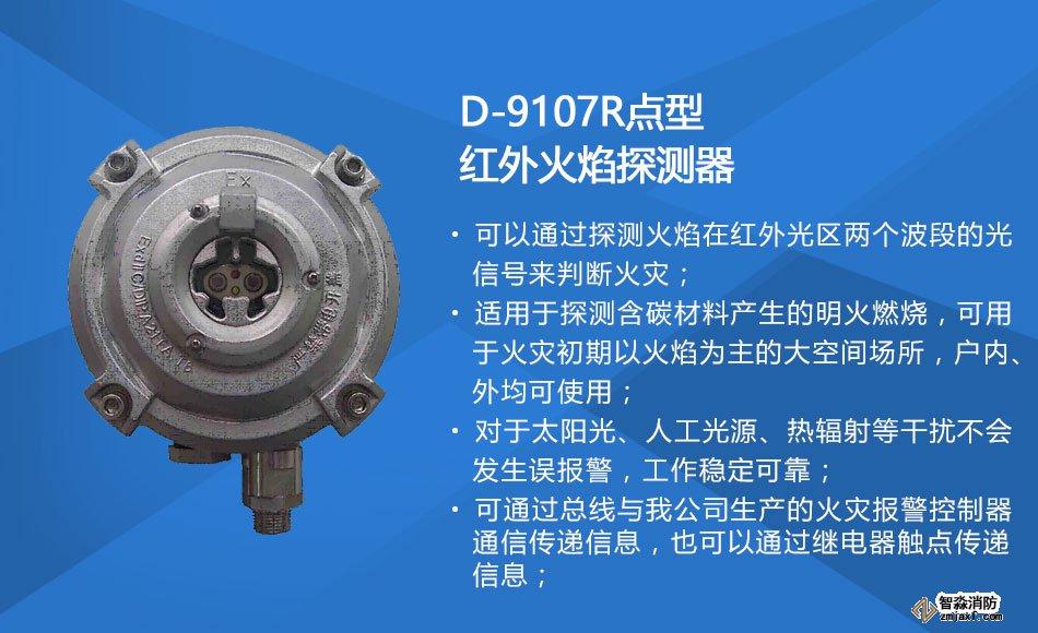 D-9107R防爆点型红外火焰探测器特点